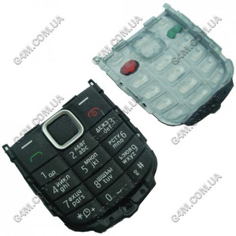 Клавиатура Nokia C1-00 чёрная, русская, High Copy