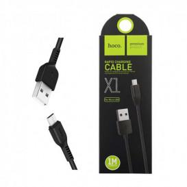 USB дата-кабель Hoco X1 Rapid MicroUSB 1 метр, черный