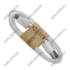 USB дата-кабель ECB-DU4AWC с микро USB разьемом (белый) для Samsung i9500 Galaxy S4, N7000 Galaxy Note (Оригинал)