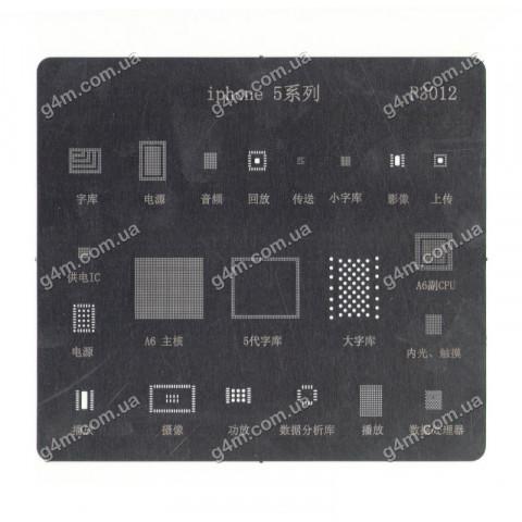 Трафарет P3012 для iPhone 5 микросхем
