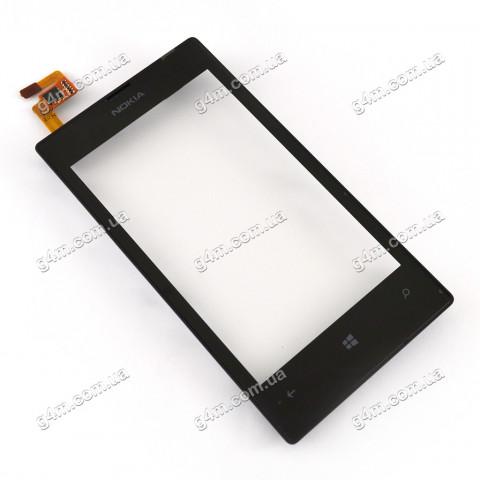 Тачскрин для Nokia Lumia 520, Lumia 525 с рамкой и датчиком приближения (Оригинал China)