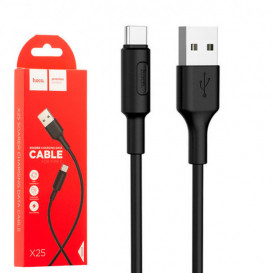 USB дата-кабель Hoco X25 Soarer Type-C 1 метр, черный