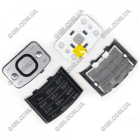 Клавиатура Nokia 6700 slide серебристая, русская (Оригинал)