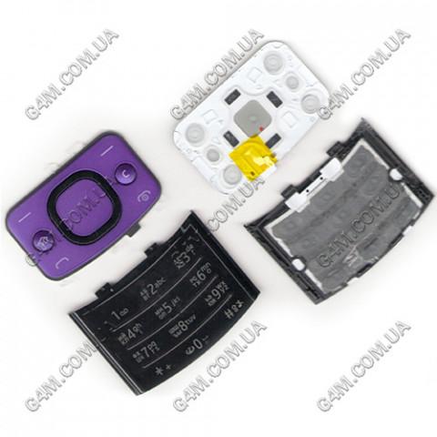 Клавиатура Nokia 6700 slide фиолетовая, русская (Оригинал)