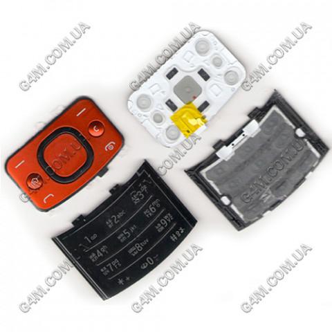 Клавиатура Nokia 6700 slide красная, русская (Оригинал)