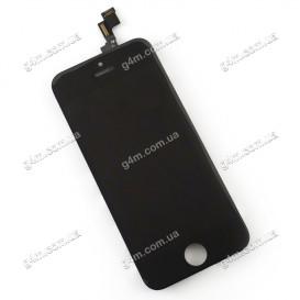 Дисплей Apple iPhone 5S с тачскрином и рамкой, черный, Оригинал