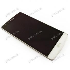 Дисплей LG G3s D724 с тачскрином и рамкой, белый (Оригинал)