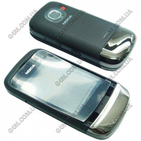 Корпус Nokia C2-02, C2-03 тёмно серый, High Copy