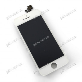 Дисплей Apple iPhone 5 с тачскрином и рамкой, белый