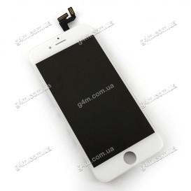 Дисплей Apple iPhone 6S с тачскрином и рамкой, белый (Оригинал)