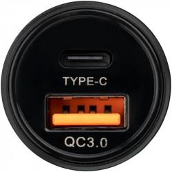 Автомобильное зарядное устройство Twix GP-CC006 с 1USB и 1Type-C портом + Lightning кабель QC/PD18W