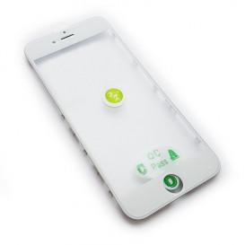 Стекло сенсорного экрана с рамкой и OCA пленкой для Apple iPhone 6S белое