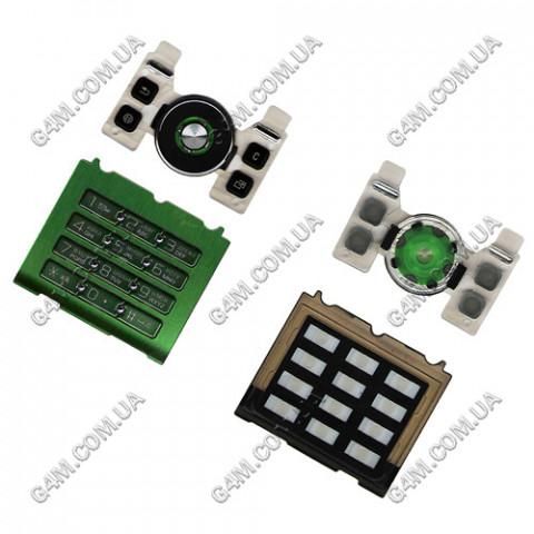 Клавиатура Sony Ericsson S500i зеленая, русская, High Copy