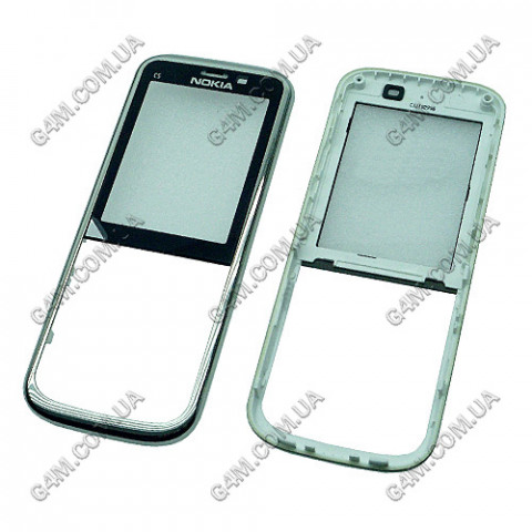 Передняя панель Nokia C5-00 белая (Оригинал)