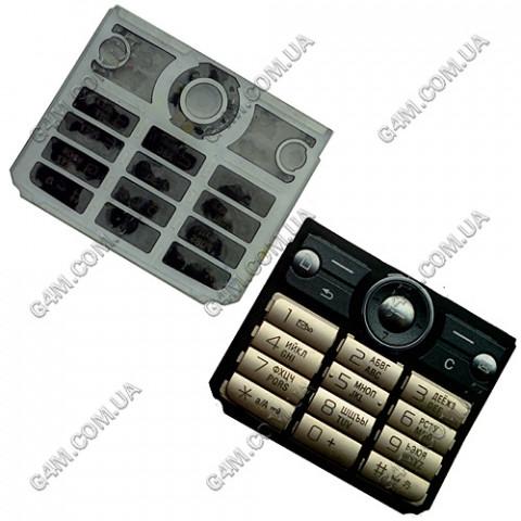 Клавиатура Sony Ericsson G700 золотая, русская (High Copy)