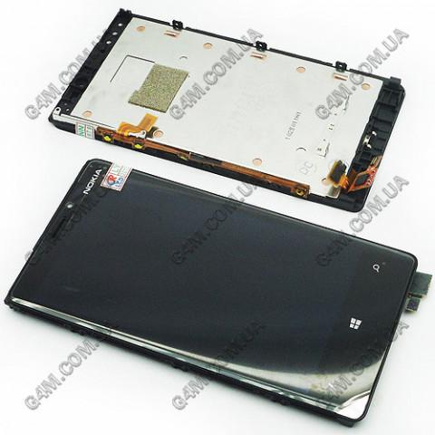 Дисплей Nokia Lumia 920 с тачскрином и рамкой (Оригинал)