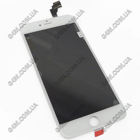 Дисплей Apple iPhone 6 Plus с тачскрином и рамкой, белый