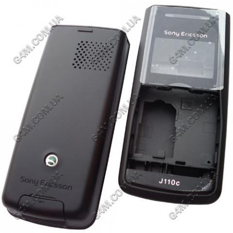Корпус Sony Ericsson J110c чёрный, High Copy