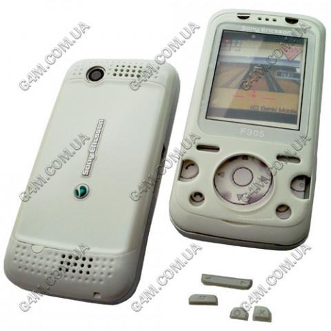 Корпус Sony Ericsson F305 белый, High Copy