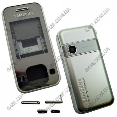 Корпус Samsung F250 серебристый с белым, High Copy