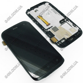 Дисплей HTC T328W Desire V с тачскрином и черной рамкой (Оригинал)