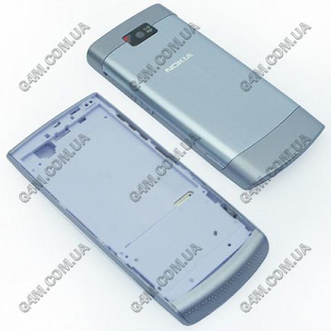 Корпус Nokia X3-02 Touch and Type фиолетовый с средней частью (High Copy)