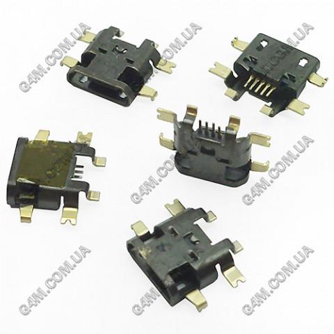 Коннектор зарядки HTC T328E Desire X, T328W Desire V, G24 T320E One V, T326E Desire SV, C110e Radar, C525e One SV, PL80110, PL80120 (Оригинал)