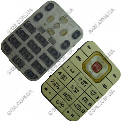 Клавиатура Nokia 7370 кремовая, русская, High Copy