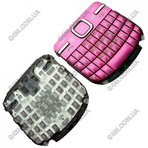 Клавиатура Nokia C3-00 розовая, русская (High Copy)