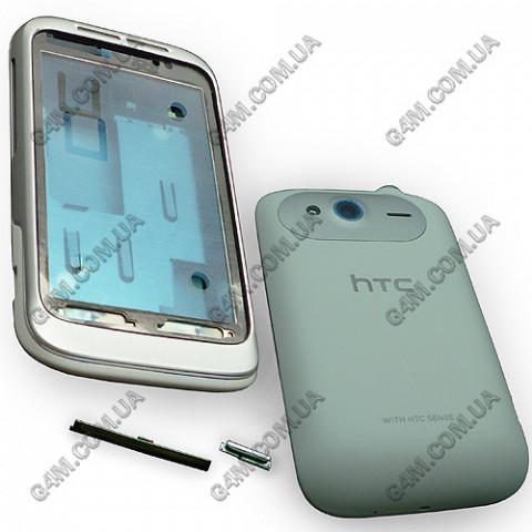 Корпус HTC G13, A510e Wildfire S, PG76100 белый с серебристым (High copy)