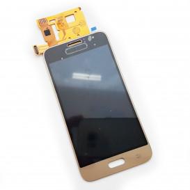 Дисплей Samsung J120 Galaxy J1 (2016) золотистый с тачскрином, копия