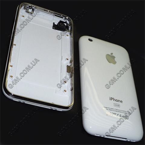 Задняя крышка Apple iPhone 3GS 32Gb белая с рамкой (High copy)