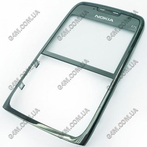 Передняя панель Nokia E71 серая сталь (Оригинал) б/у