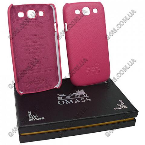 Накладка кожанная OMASS для Samsung i9300 Galaxy S3 розовая