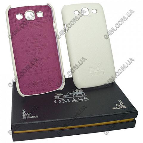 Накладка кожанная OMASS для Samsung i9300 Galaxy S3 белая