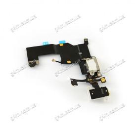 Шлейф Apple iPhone 5 с коннектором зарядки белая (Оригинал China)