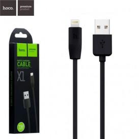 USB дата-кабель Hoco X1 Rapid Lightning 1 метр, черный