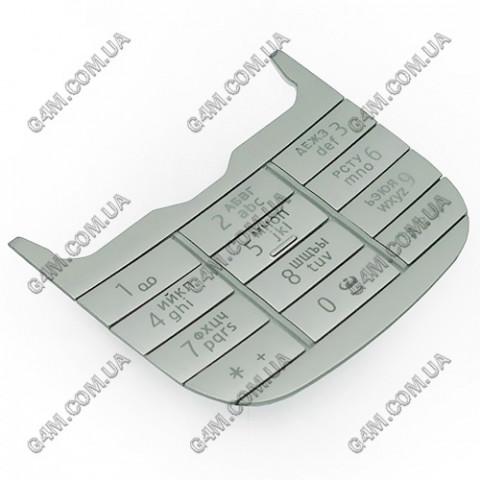 Клавиатура Nokia 7230 цифровая, русская, серебристая (Оригинал)