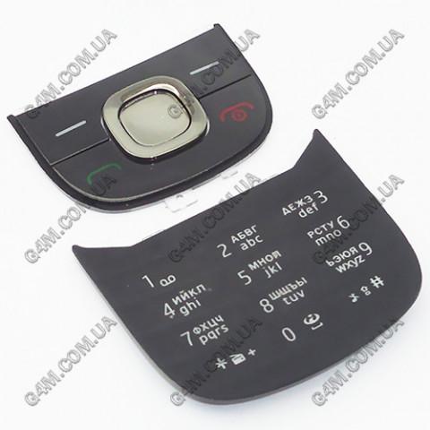 Клавиатура Nokia 2220 slide, русская, черная (Оригинал)