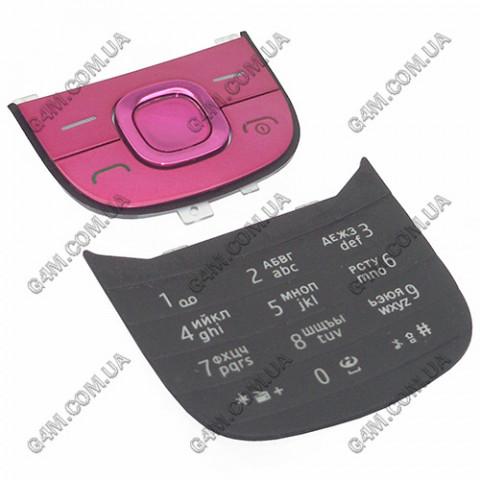 Клавиатура Nokia 2220 slide, русская, розовая (Оригинал) слегка б/у