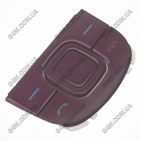 Клавиатура Nokia 3600 slide верхняя, красная (Оригинал)