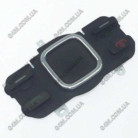 Клавиатура Nokia 6600i slide верхняя, черная, русская (Оригинал) б/у