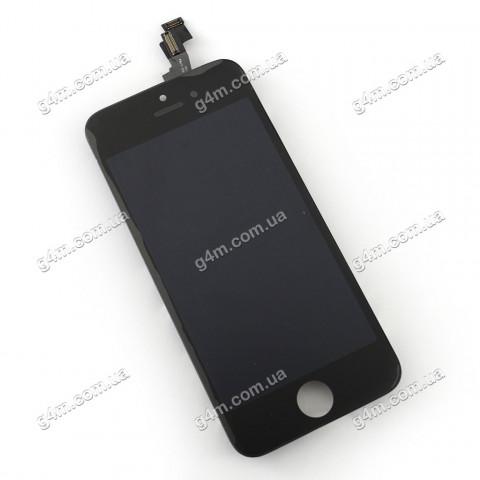 Дисплей Apple iPhone 5S с тачскрином и рамкой, черный (High copy)