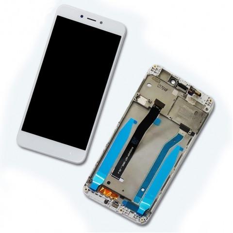 Дисплей Xiaomi Redmi 4x с тачскрином и рамкой, белый