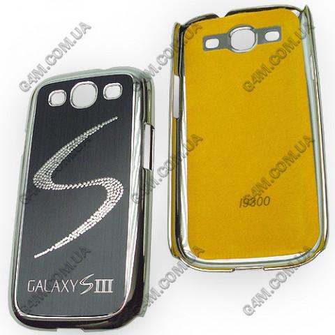 Накладка пластиковая с черной аллюминиевой вставкой для Samsung i9300 Galaxy S3