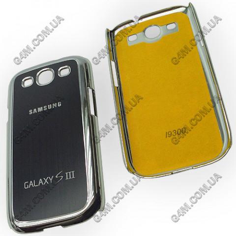 Накладка пластиковая с черной аллюминиевой вставкой Samsung i9300 Galaxy S3