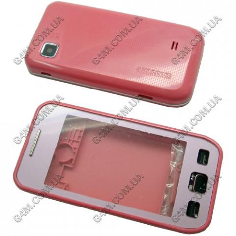Корпус Samsung S5250 с клавиатурой розовый (High Copy)