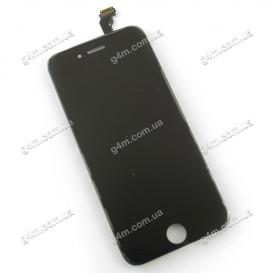 Дисплей Apple iPhone 6 с тачскрином и рамкой, черный, Оригинал