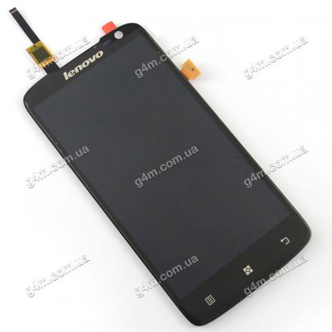 Дисплей Lenovo S820 с тачскрином черный (Оригинал China)