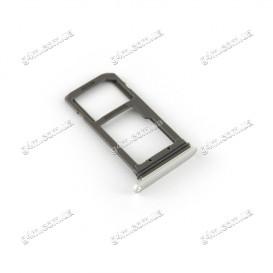 Держатель Sim карты Samsung G935F Galaxy S7 Edge Duos серебристый